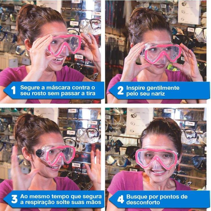 Como testar uma máscara de mergulho
