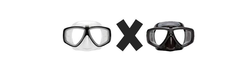ae70092b6 Existem opções de cores bem variadas de máscara de mergulho.
