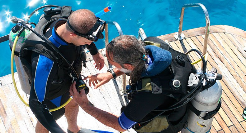 Checagem pré-mergulho
