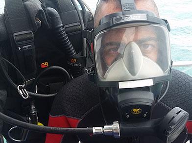 Especialização em Mergulho de Full Face