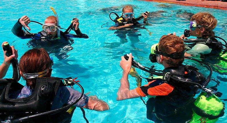 O que analisar antes de contratar um batismo de mergulho
