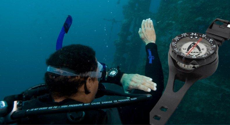 Como usar uma bússola de mergulho